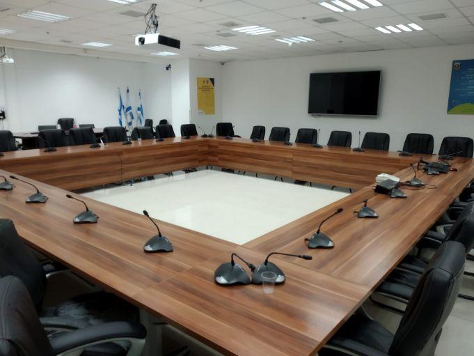 חדר מליאת מועצת העיר