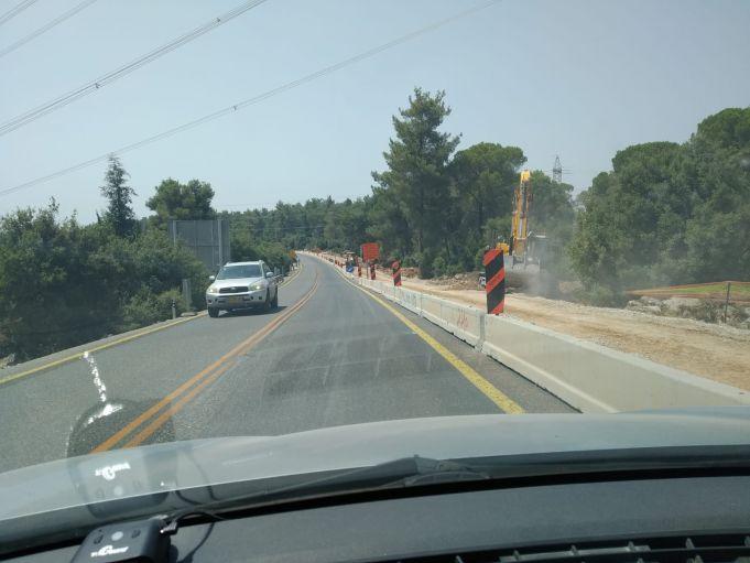 העבודות בכביש 386