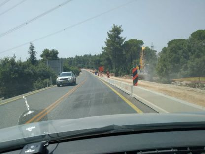 עבודות הרחבה בכביש 386