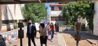 שר הרווחה אורחה של ראש העיר הגיע גם לקיבוץ תמוז