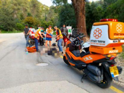 תאונת דרכים בין רוכב אופנוע לטרקטורון