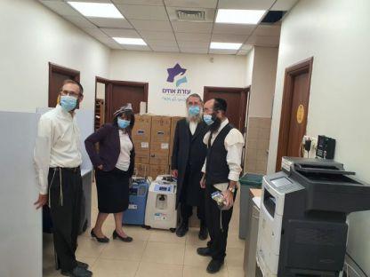 עזרת אחים הצטייד במשלוח נוסף של מחוללי חמצן חדשים