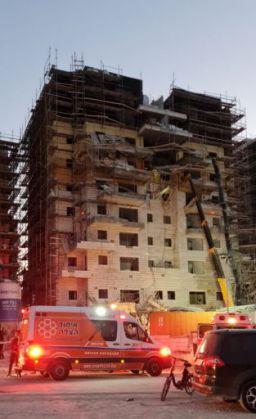 חמישה פצועים קשה בינוני וקל בתאונת עבודה ברמת בית שמש ד'