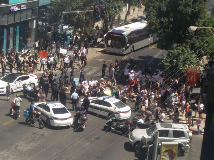 הפגנה. צילום- והועבר בואטסאפ