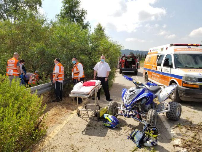 זירת התאונה ליד כפר אוריה