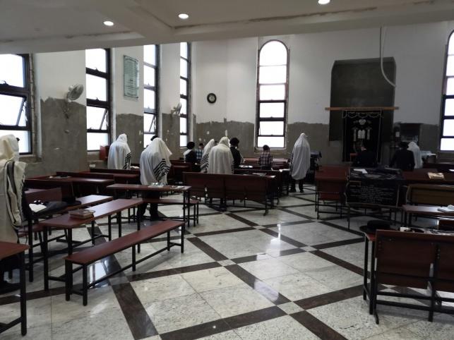 בית הכנסת, צילום דוברות המשטרה