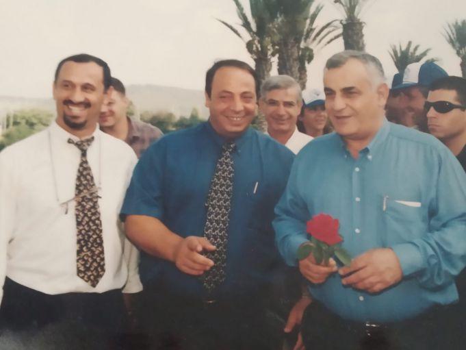 """אוחיון ז""""ל משמאל עם דניאל וקנין ואיציק מרדכי"""