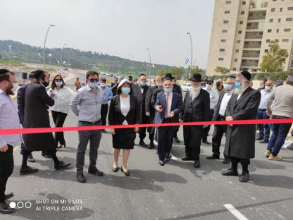 נחנך ציר עוקף נהר הירדן הפקוק