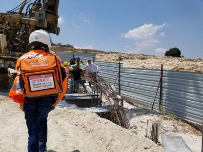 עוד תאונת עבודה באתר בניה- הפעם כלונסאות נפלו על פועל בן 62