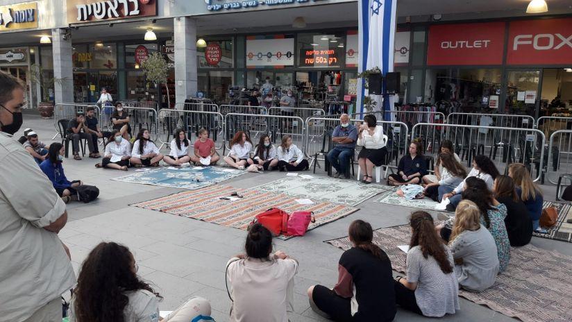 חבורות הנוער בעצרת התפילה