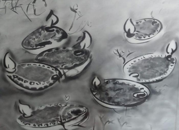כריכת ספר הזיכרון, שבע הנרות: עצוב יואב בז'רנו