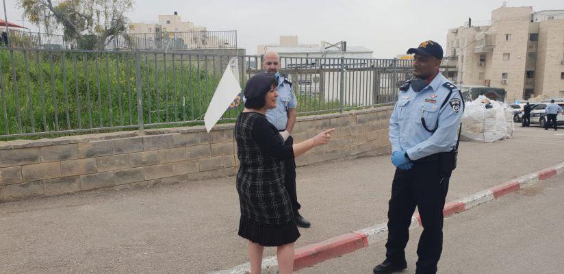 בלוך עם גורש צילום דוברות העירייה