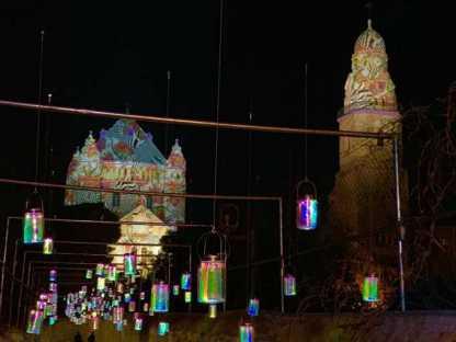 הצצה ראשונית אל מיצגי האור שיוצגו בפתיחת פסטיבל האור-