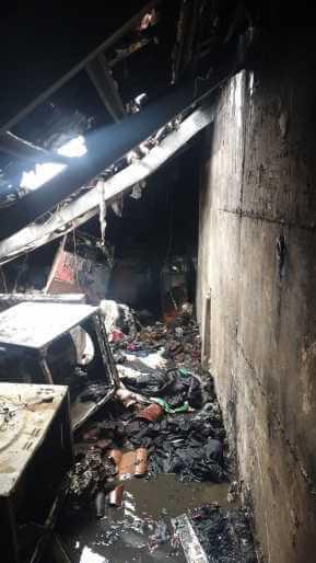 הקומה העליונהשל מבנה מגורים בבן איש חי נשרפה כליל