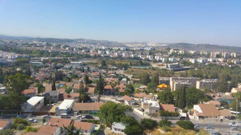 מבט על העיר בית שמש מרמת בית שמש
