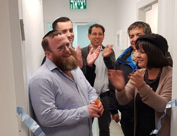 הרב מנדלסון עם עליזה בלוך
