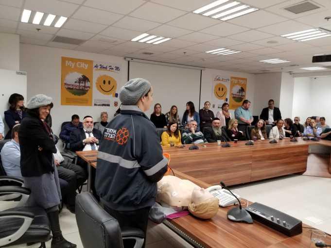 איחוד הצלה בהדרכה רפואית לעובדי עיריית בית שמש