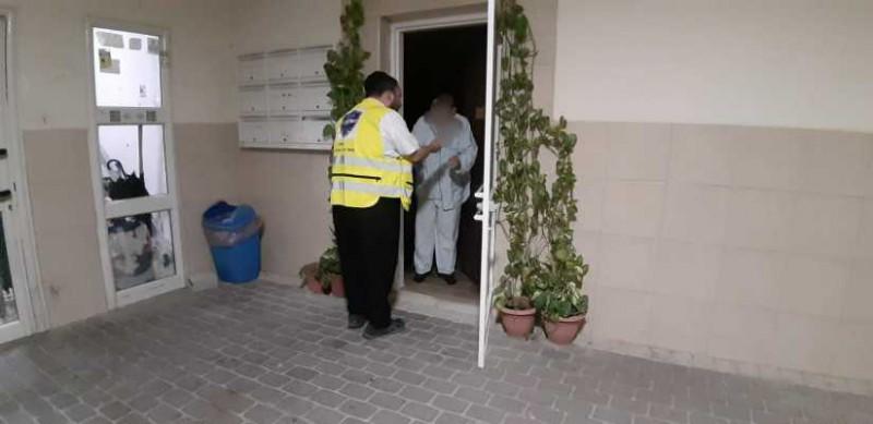 חסד: תוך דקות הגיעו מתנדבים לביתם של בני זוג בעלטה