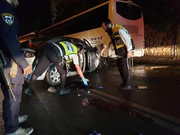 """זירת התאונה צילום: זק""""א"""