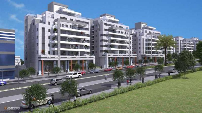 פרויקט נתיב ברמה של קבוצת נתיב פיתוח ברמת בית שמש ד3 קרדיט הדמייה משרד אדריכלים לארי שטרנשיין.